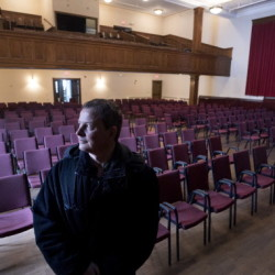 Belfast resident Kiril Lozanov recently purchased the former William C. Crosby School in Belfast. He plans to turn the building into community theater space, offices and co-housing apartments.