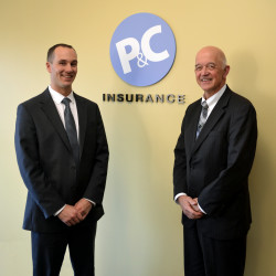 Josh Fearon and Roland Eon of P&C Insurance.