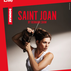 "The poster for the National Theatre ""NT Live"" production of ""Joan of Arc."""