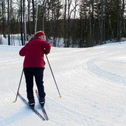 Nordic skiers take on trails at Quarry Road Trails in Waterville Tuesday.