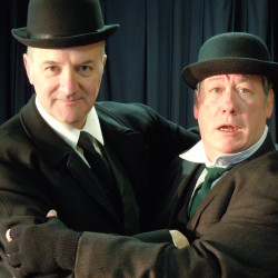 Jim Bulteel and Christopher Luthin in the Stillwater Stage production of Waiting for Godot