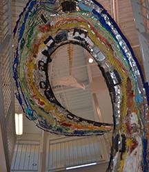 Clean Ocean Wave Sculpture at UNE