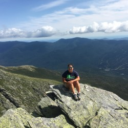 Leia Berube on the Saint Joseph's College Environmental Science Semester, taken on Mount Washington in New Hampshire.