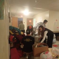 Volunteers ensure community warmth, as part of MLK Day