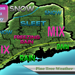 Freezing rain, thunderstorms headed for Maine