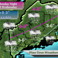 Freezing rain, snow expected in Maine this weekend