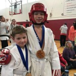 Congratulations to Mikhail Prostatin, age 7, and Logun McMahon, age 10, who participated in their first Tae Kwon Do Tournament last weekend at the 2017 Maine Karate Classic. Logun received first place and Mikhail second in the state for their respective age groups. Mikhail started Tae Kwon Do at the Old Town-Orono YMCA under the direction of Tristan Creeley in September and Logun in November.