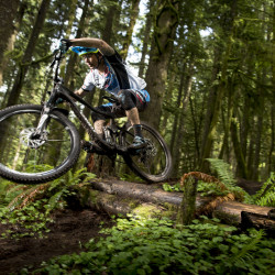 Exeter native Adam Craig, pictured performing a test run on some Oregon trails for Giant Bicycles, recently retired from competitive mountain bike racing after a successful 20-year career. Craig, a 19-time USA Cycling mountain biking national champion who competed in the 2008 Summer Olympic Games, is still active in biking in Oregon.