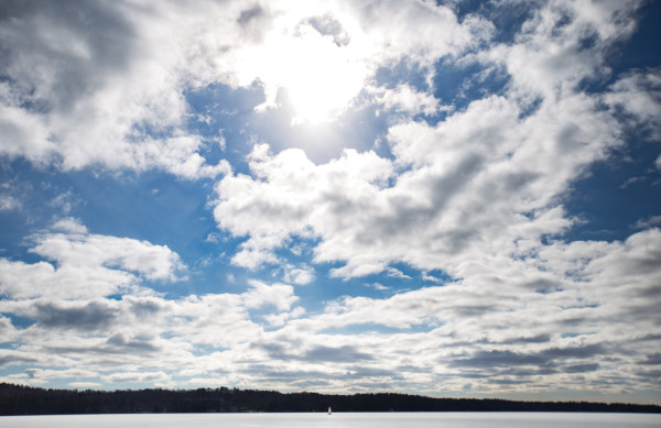 An ice boater takes advantage of pristine ice conditions on Monday on Damariscotta Lake in Jefferson.