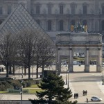 A general view shows the Carrousel du Louvre and the Louvre Pyramid as French police secure the site in Paris, France, Feb. 3, 2017 after a French soldier shot and wounded a man armed with a machete and carrying two bags on his back as he tried to enter the Paris Louvre museum.