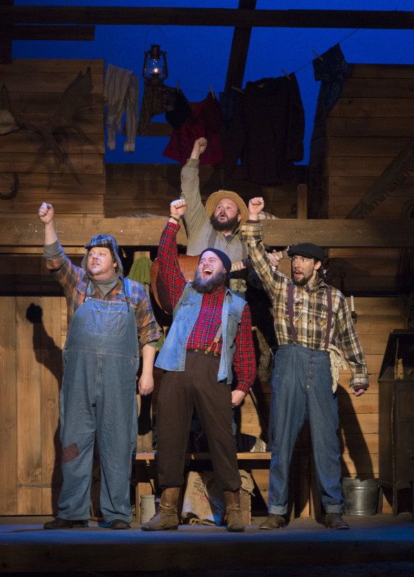 Actors perform a scene from &quotLumberjacks in Love,&quot the new musical opening Feb. 2 at Penobscot Theatre Company in Bangor.