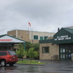 The entrance to The Aroostook Medical Center's emergency department and day surgery center.