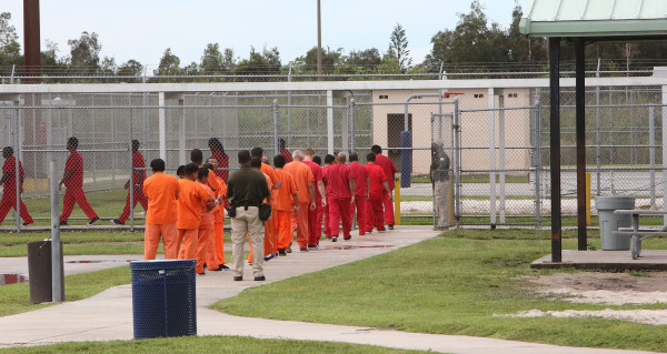 Foreign nationals at the Krome detention center, where those with criminal records and deportation orders are often held.