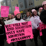 Pro-Choice supporters of Planned Parenthood rally outside a Planned Parenthood clinic in Detroit, Feb. 11, 2017.