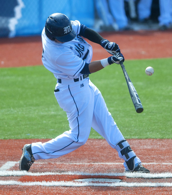 Infielder Danny Casals of the University of Maine, pictured during a game in 2016, is among the key returnees this season for the Black Bears baseball team. UMaine opens its season on Friday at Winthrop.