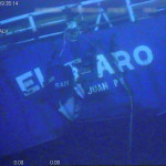 The stern of the El Faro is shown on the ocean floor taken from an underwater video camera on November 1, 2015.