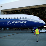 A Boeing 787-10 is moved from the tarmac after a ceremony celebrating the rollout of Boeing's newest Dreamliner at the Boeing South Carolina plant in North Charleston, South Carolina, Feb. 17, 2017.