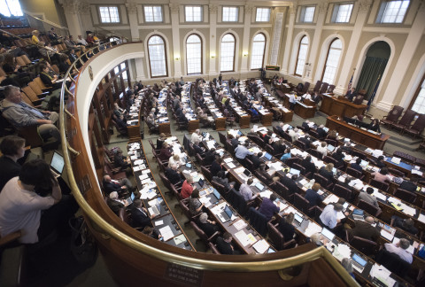 The Maine House of Representatives is seen on April 29, 2016.