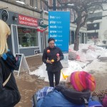 Entertainer and juggler Zachary Field performed for children on Saturday as part of downtown Bangor's Winter Fest bash.