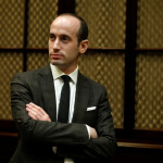 Trump adviser Stephen Miller listens during a meeting held by President Donald Trump with teachers and parents on education at the White House in Washington, Feb. 14, 2017.