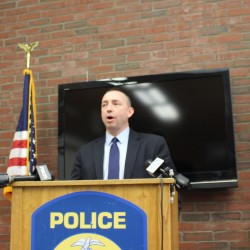 Portland Police Chief Michael Sauschuck answers questions three days after a local police officers fatally shot a 22-year-old man.
