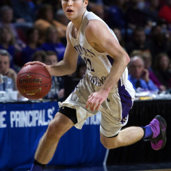 Southern Arroostook's Jackson Mathers drives the lane during their Class D boys basketball semifinal game against Central Aroostook at the Cross Insurance Center in Bangor Thursday.