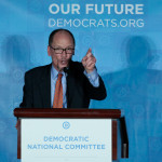 Tom Perez addresses the audience after being elected Democratic National Chair during the Democratic National Committee winter meeting in Atlanta, Feb. 25, 2017.