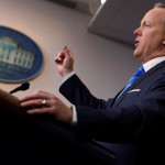 White House Communications Director Sean Spicer holds the daily briefing at the White House, Washington, Feb. 27, 2017.