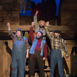 """Scenes from """"Lumberjacks in Love,"""" the new musical opening Feb. 2 at Penobscot Theatre Company."""