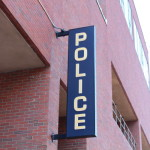 A sign in front of the Portland Police Department can be seen on Friday in Portland.