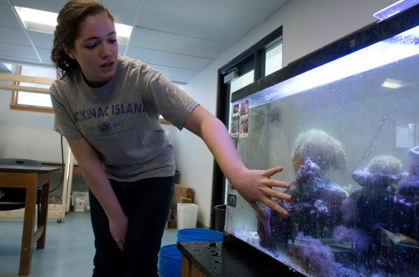 Clair Aldrich, a senior in marine biology at the University of Maine at Machias and student representative, wants her fellow students to know that the partnership with the University of Maine will bring many opportunities to UMM students.