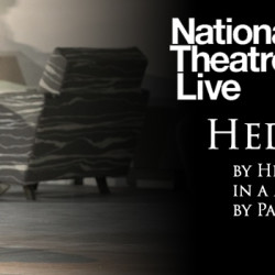 """The poster for the National Theatre """"NT Live"""" production of """"Hedda Gabler."""""""