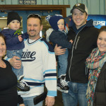 Enjoying TAMC's Free Skate Day at The Forum in Presque Isle on January 29 were, (l to r) Tracy, Max, and Michael Lee; Liam, Brian, and Brittany Morrison.  The next Free Skate Day will be on Sunday, February 26.