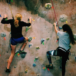 Indoor climbing at the YMCA in Rockport