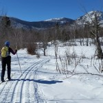 Emmie Theberg and other cross-country skiers have taken to trails within the Katahdin Woods and Waters National Monument that Gov. Paul LePage wants to revert to private ownership or have the state run.