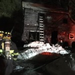 Five surrounding fire departments responded to the call, but by the time they got there the fire had spread to the house.
