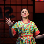 "Anna Giroux as Babe sings ""I'm Not at All in Love"" in ""The Pajama Game"" at the University of Maine."