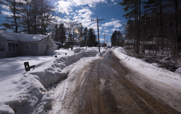 Ambroshia Fagre and Kadhar Bailey were fatally shot by police on the Arnold Road (shown here) in Vassalboro on Feb. 10. Officers fired at the pickup truck the two were in after Bailey rammed it into a police cruiser, according to police.