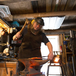 It's like drawing with a hammer': Maine blacksmith forges