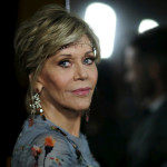 "Cast member Jane Fonda poses at the premiere of ""Youth"" at Directors Guild of America in Los Angeles, California, Nov. 17, 2015."