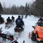 The Chamberland Snowmobile Club of St. Agatha -- formed in the early 2000s by five brothers from the Jean Paul Chamberland family and since that time extended to relatives and friends -- gets together for a week each February to ride the trails of northern Maine. This photo was taken in early February along the ITS 81 trail between Van Buren and Grand Isle.