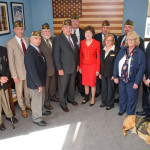 Senator Susan Collins, center, was presented with the Veterans of Foreign Wars 2017 Congressional Award on Friday. Collins is a life member of VFW Auxiliary Post 9389 in Caribou.