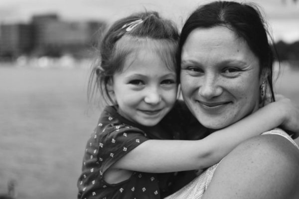 Sarah Kilch Gaffney, pictured with her daughter, is a writer who lives in central Maine.
