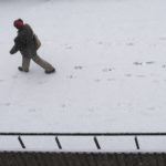 Light snow started falling in Bangor shortly before noon on Tuesday.