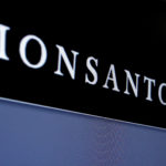 Monsanto is displayed on a screen where the stock is traded on the floor of the New York Stock Exchange (NYSE) in New York City, U.S. on May 9, 2016.