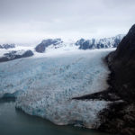 A view of the Blomstrand Glacier in Ny-Alesund, Norway.