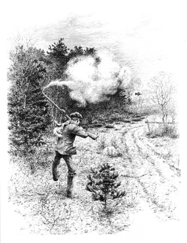 A scene from &quotNew England Grouse Shooting,&quot by William Harnden Foster. Courtesy of Wild River Press and Jon Foster