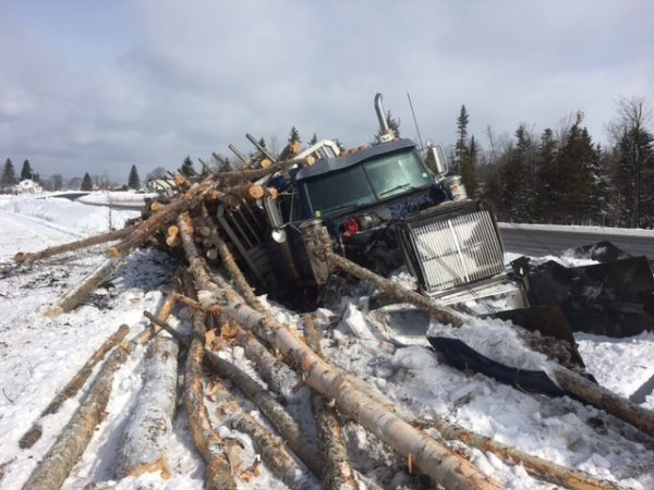 A Plaster Rock, New Brunswick man was not seriously injured Thursday morning when his rig went off the road on U.S. Route 1 in Monticello. Winfred Murchison, 65, was traveling south on Route 1 in a 2001 Western Star tractor trailer hauling logs when he suffered a medical issue and went off the road at about 10:20 a.m. Thursday.