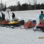 "Older snowmobiles such as those pictured here at the 2015 Vintage Show and Ride in Smyrna Mills will be on the track this Saturday for the Penobscot Snowmobile Club's ""Squeeze the Throttle Vintage Snowmobile Races"" in Hermon."