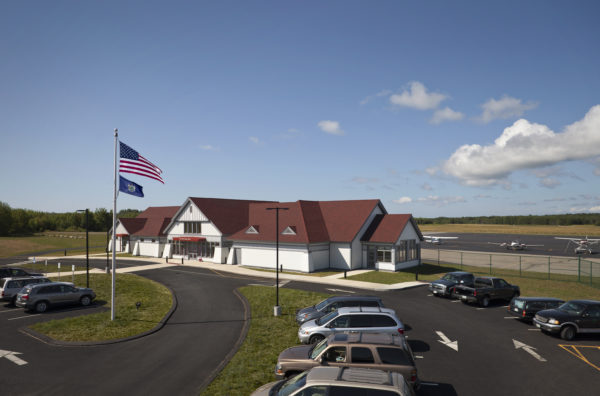 Regional Airport terminal in Owls Head, ME.